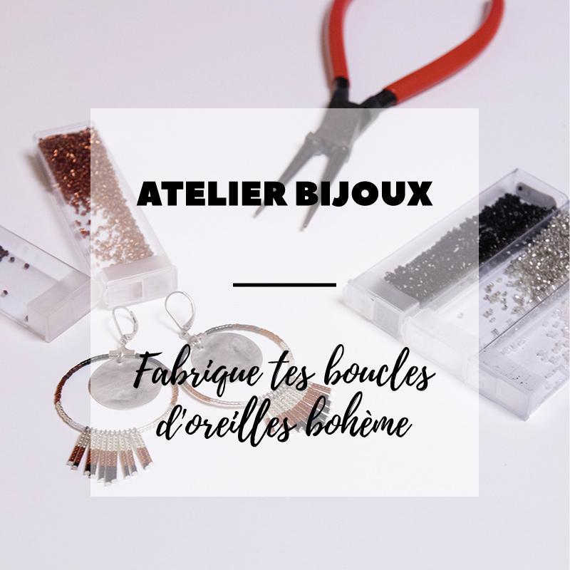 Atelier DIY bijoux autour de Strasbourg : fabrique tes boucles d'oreille bohème en perles Miyuki - Avril sur un fil