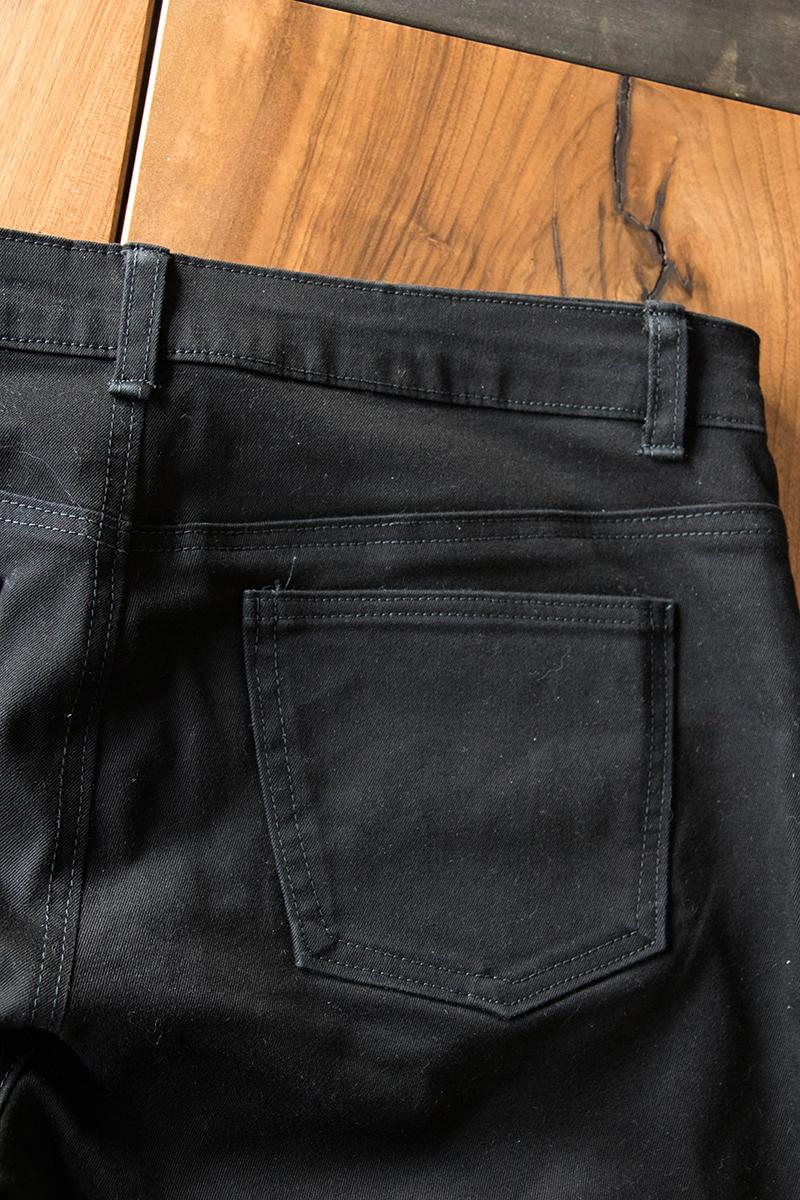 Jean Ginger : détail des poches arrières - Avril sur un fil