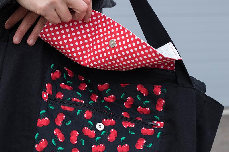 Couture du sac Emile de Petit Patron - détail - Avril sur un fil