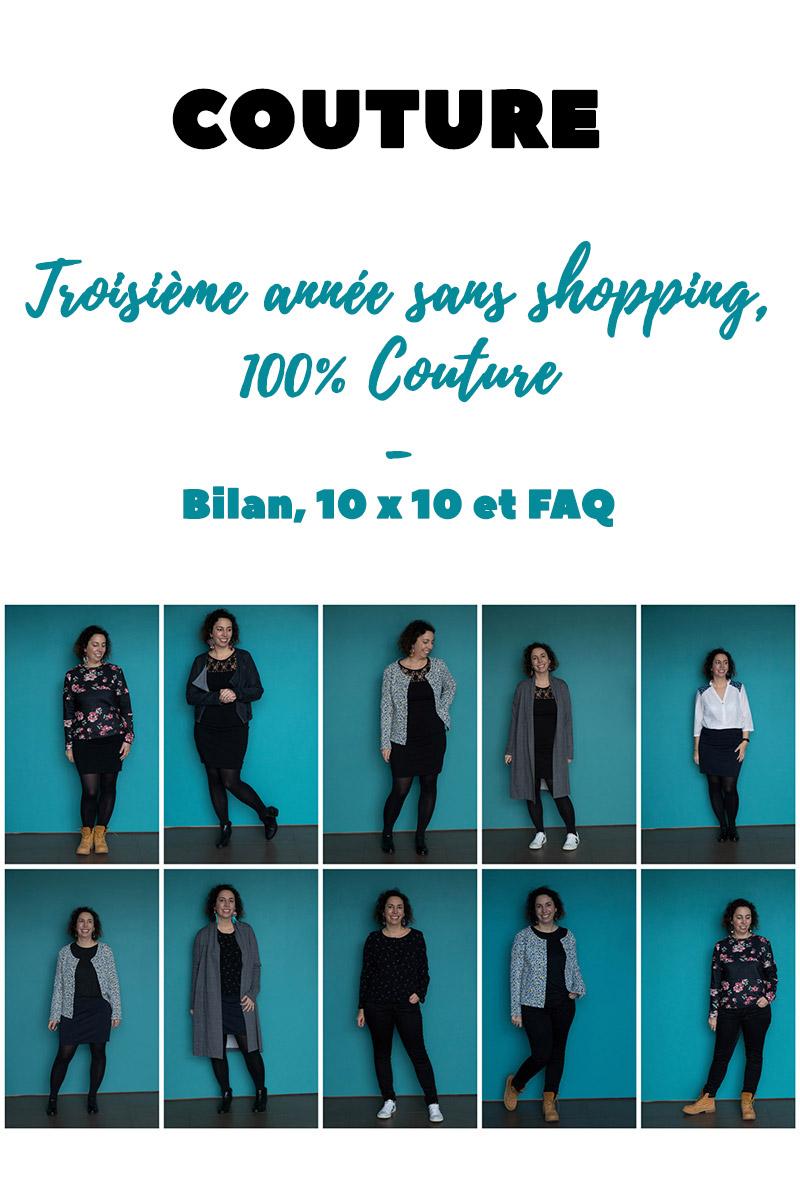 Couture : Bilan de ma troisième année sans shopping, 100% couture - Avril sur un fil