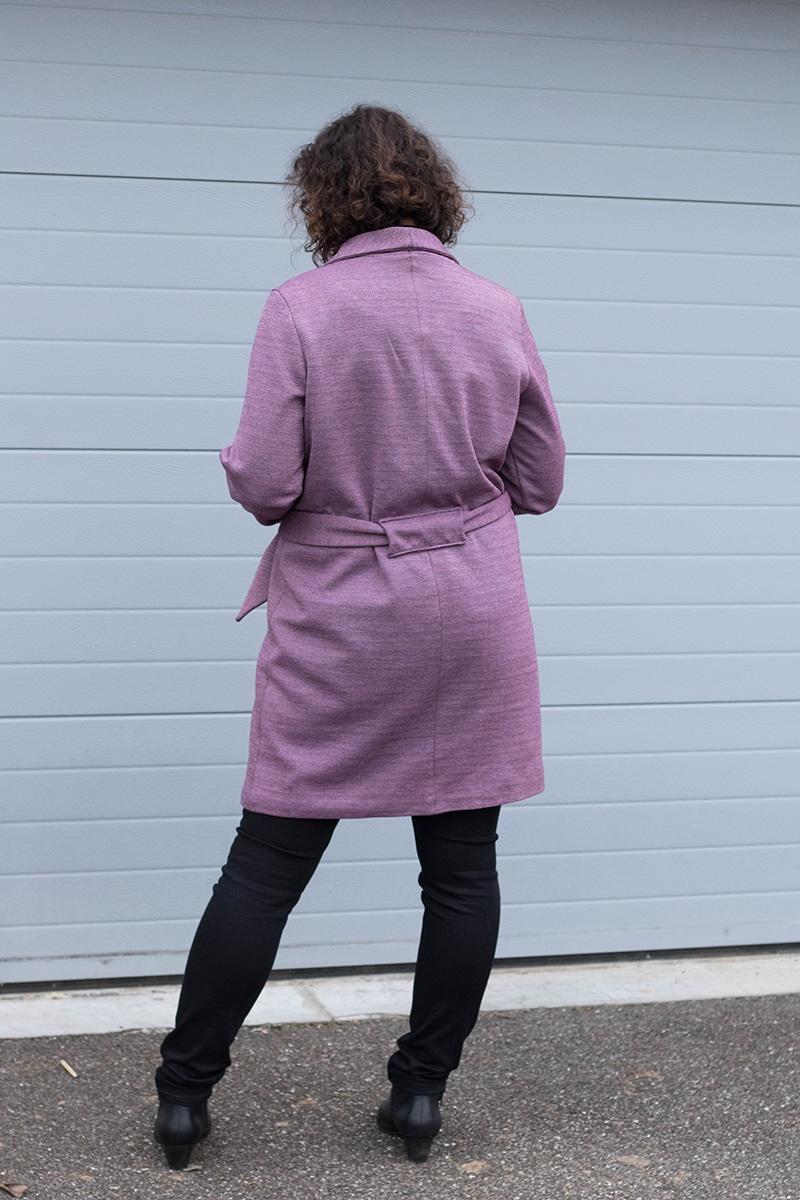 Manteau Olga de mouna sew vu de dos - Avril sur un fil