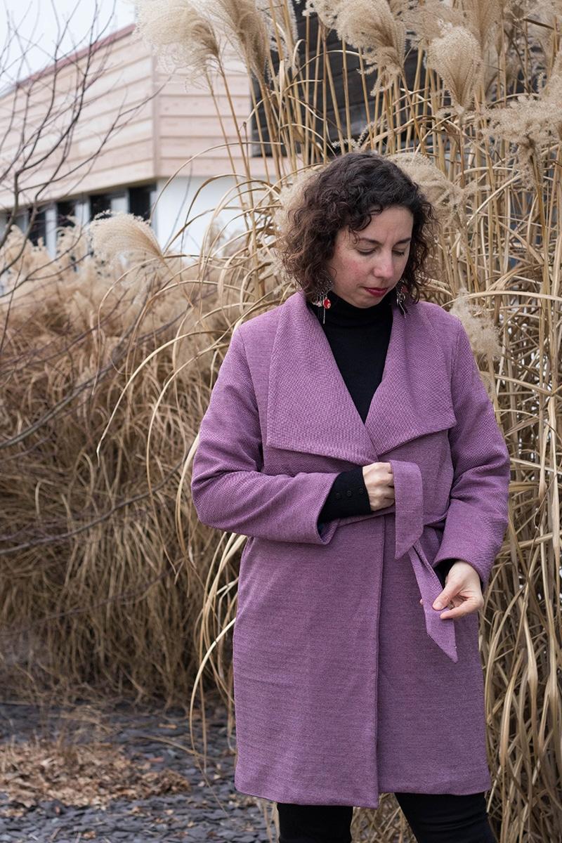 couture : le manteau olga de mouna sew - Avrilsurunfil