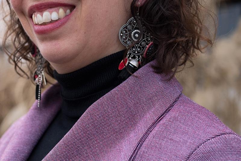 Détail du tissu de mon manteau Olga de Mouna Sew - Avril sur un fil