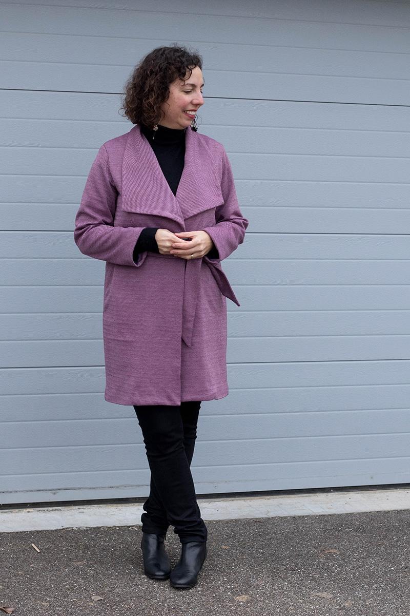 Couture : le manteau Olga de Mouna Sew - Avril sur un fil