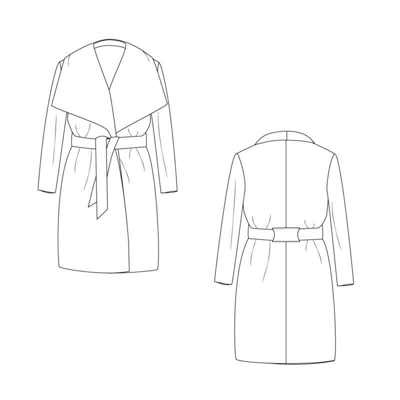 Manteau Olga de Mouna Sew