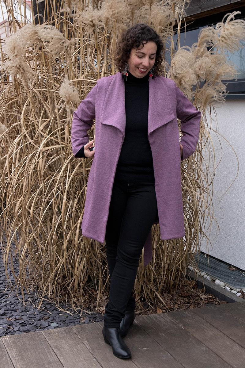 Couture : le manteau olga de mouna sew ouvert - avril sur un fil