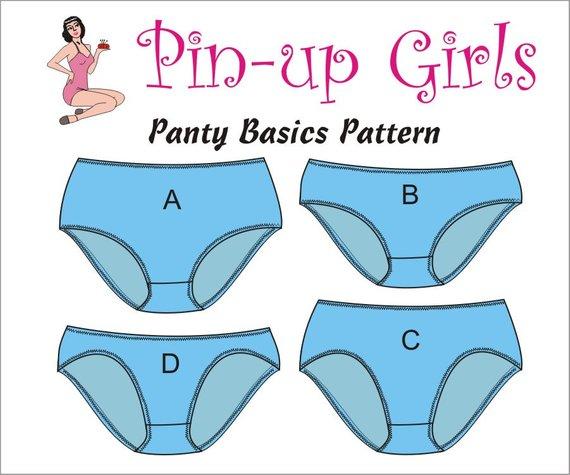 PAtrons de culotte à coudre : Panty de Pin up Girls - Avril sur un fil