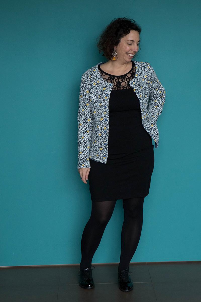 Tenue 3 : robe givre et gilet Monceau - Avril sur un fil