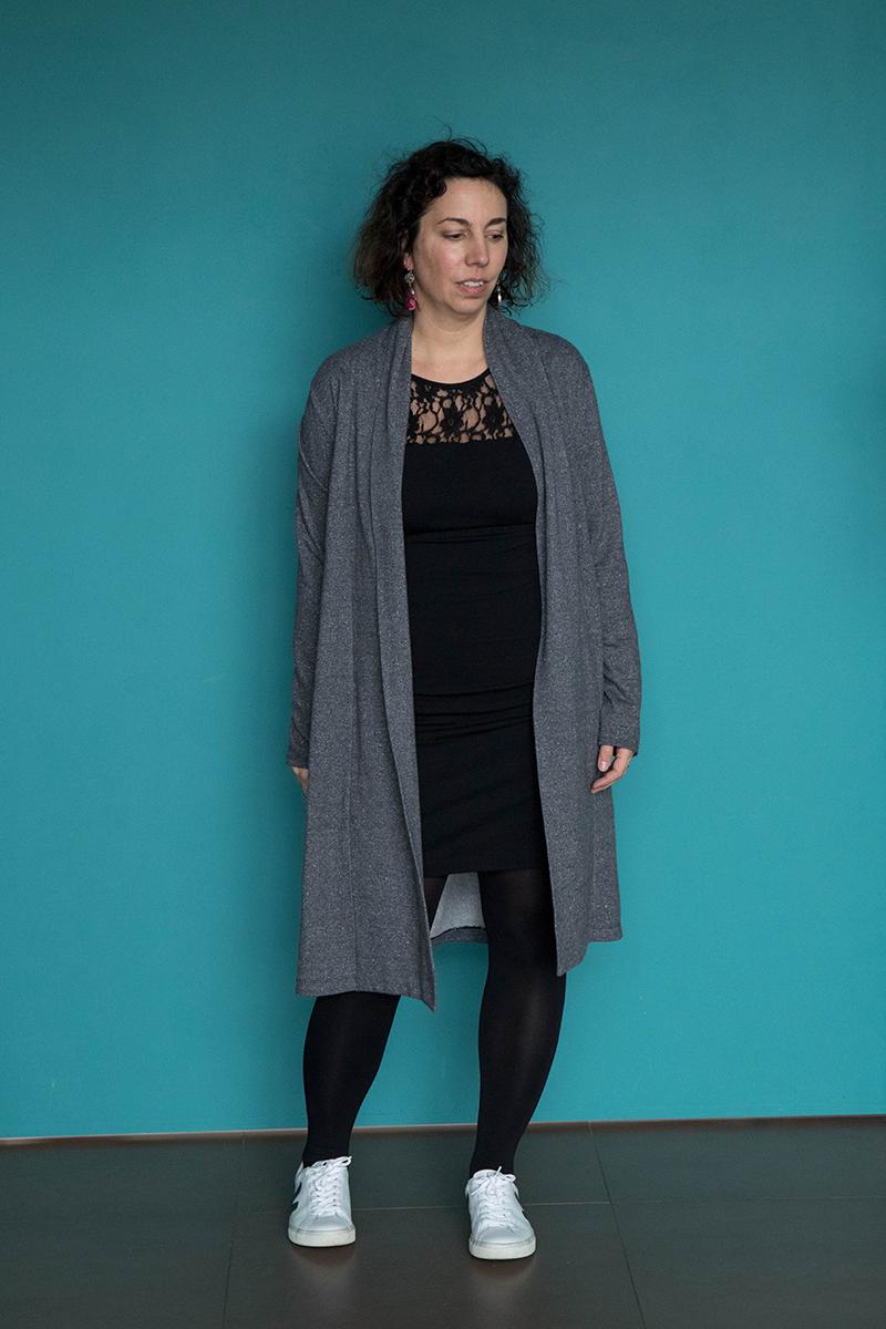 Tenue 4 : robe givre et gilet Cannelle - Avril sur un fil