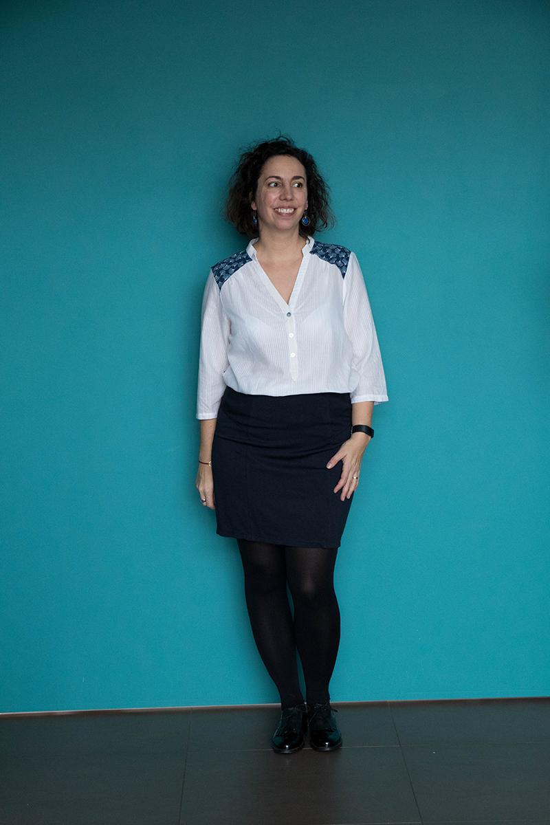 Tenue 5 : jupe Brume et blouse Miss Paulette  - Avril sur un fil