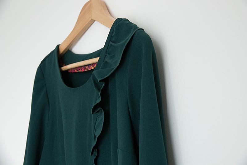Couture : une blouse à volant avec de jolies finitions - Avril sur un fil