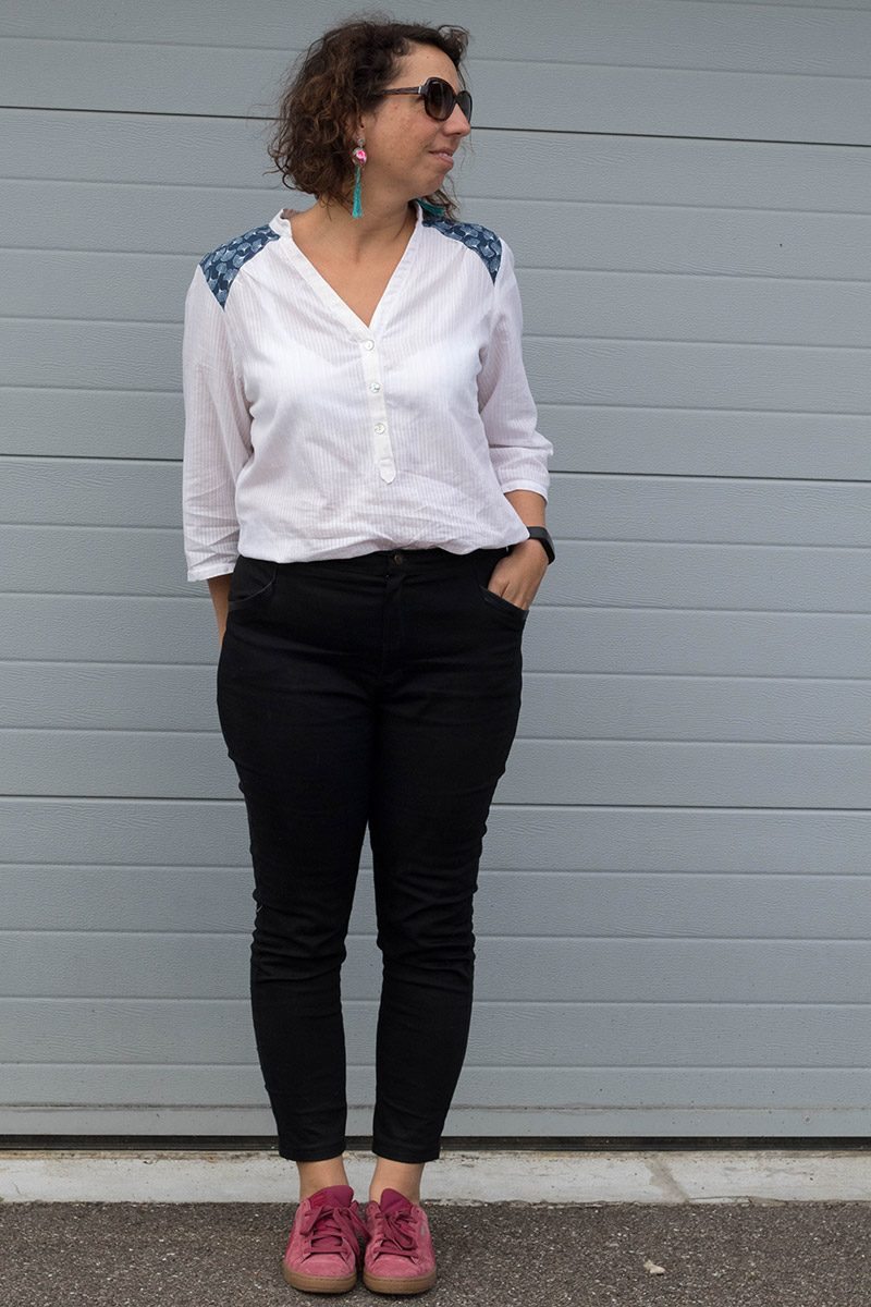 Look de printemps cousu main : Pantalon Safran et Blouse Miss Paulette - Avril sur un fil