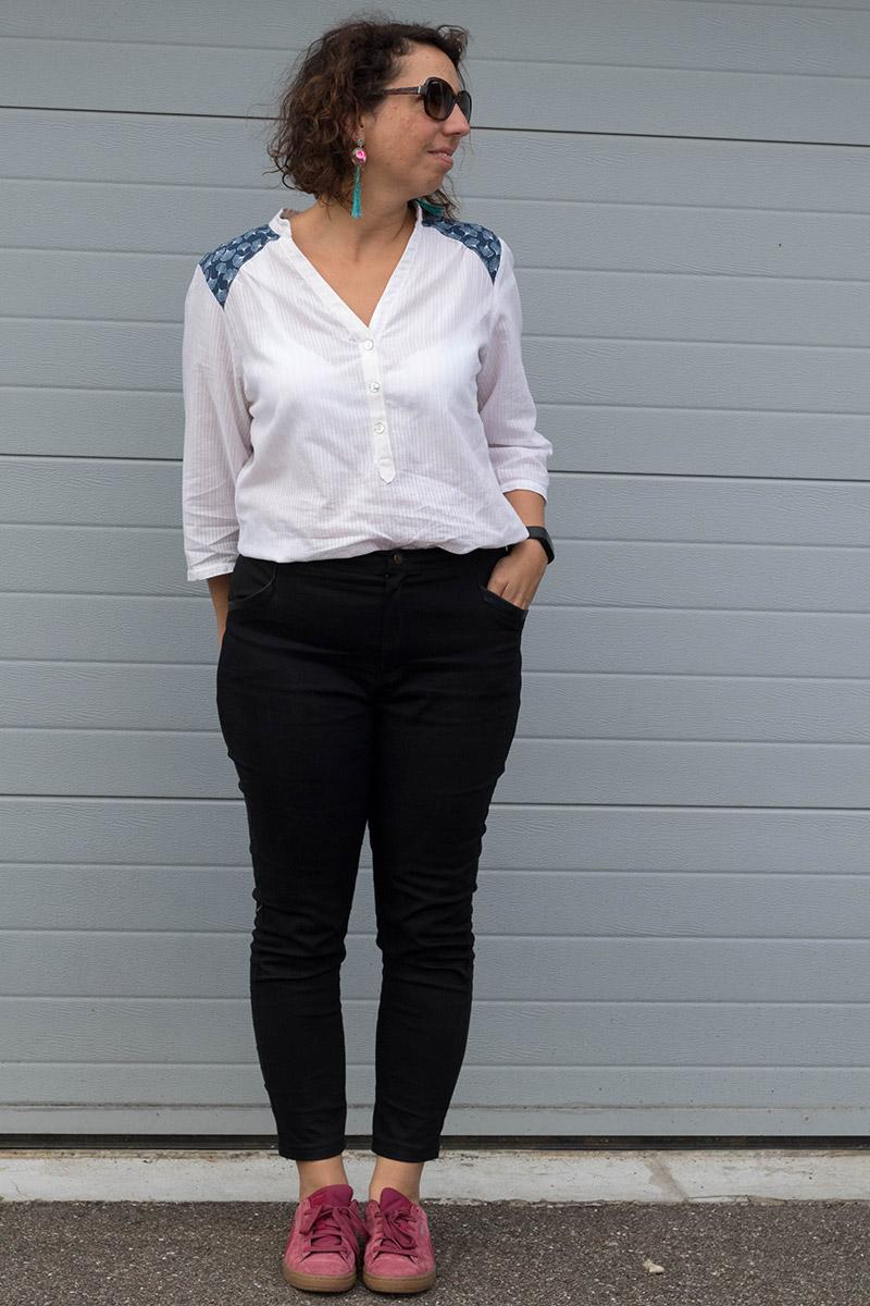 Look de printemps cousu main : Pantalon Safran et Blouse Miss Paulette - Avril sur un fil