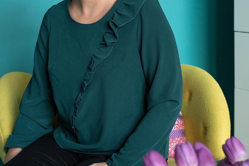 Couture : tunique à volant unie - Avril sur un fil