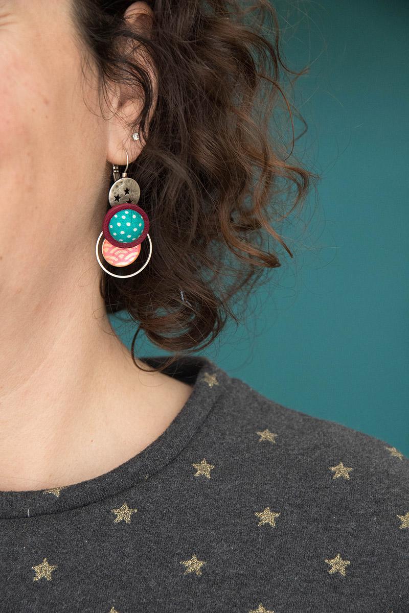 Couture : détail d'encolure sweat Andrea de Petit Patron - Avril sur un fil