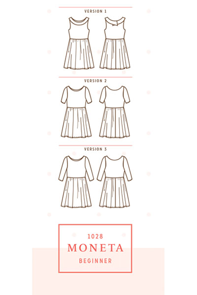 5 patrons que j'aimerais coudre ce printemps : LA robe Moneta de Colette Patterns