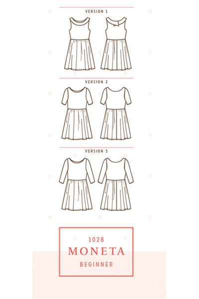 5 patrons que j'aimerais coudre ce printemps : LA robe Moneta de Colette Patterns
