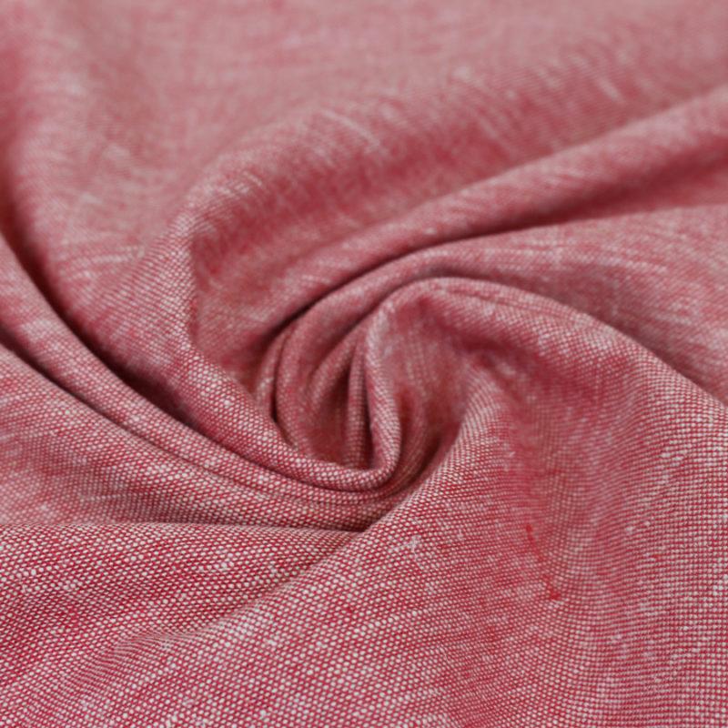 Tissu Lin viscose rouge - Mouna sew