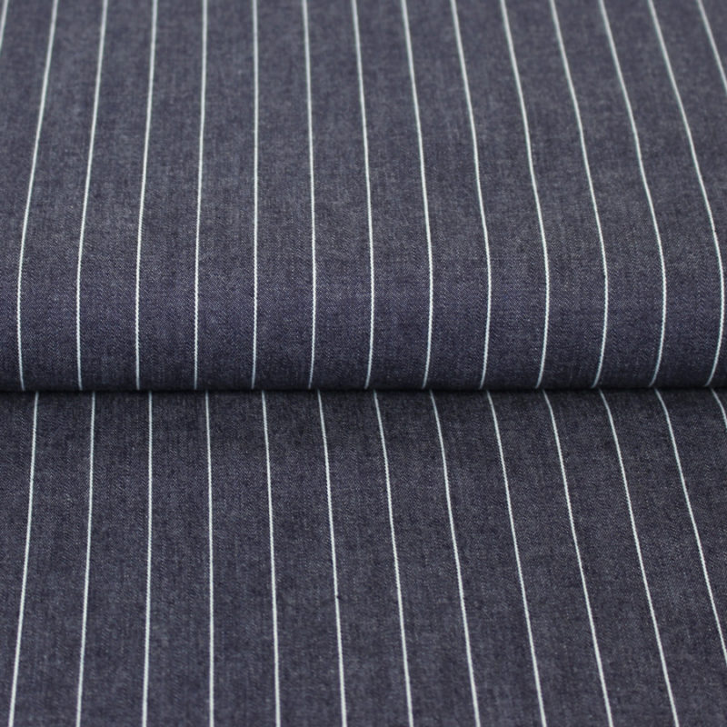 Tissu chambray à rayures - Mouna Sew