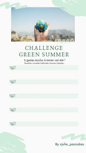 Challenge green summer - Banana pancakes