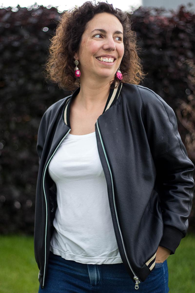 Couture : un nouveau bomber dans mon dressing - d'après le patron bomber jacket du magazine ottobre 2/2017 - Avril sur un fil