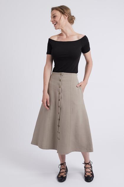 {Sélection couture} : 5 patrons de jupe longue à coudre : la jupe Saine de Coralie Bijasson