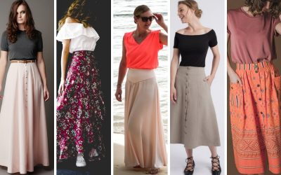{Sélection couture} : 5 patrons de jupes longues à coudre