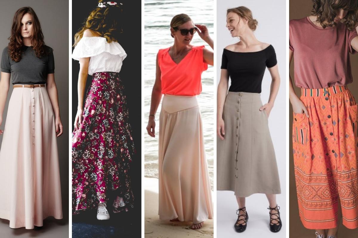 Selection Couture 5 Patrons De Jupes Longues A Coudre Avril Sur Un Fil