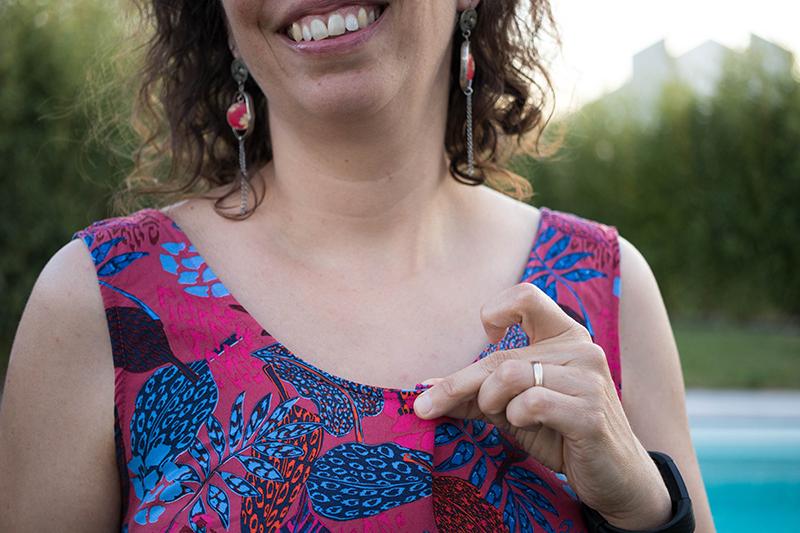Couture : Ma robe d'été Myosotis x Lucie x Centaurée : encolure qui baille légèrement- Avril sur un fil