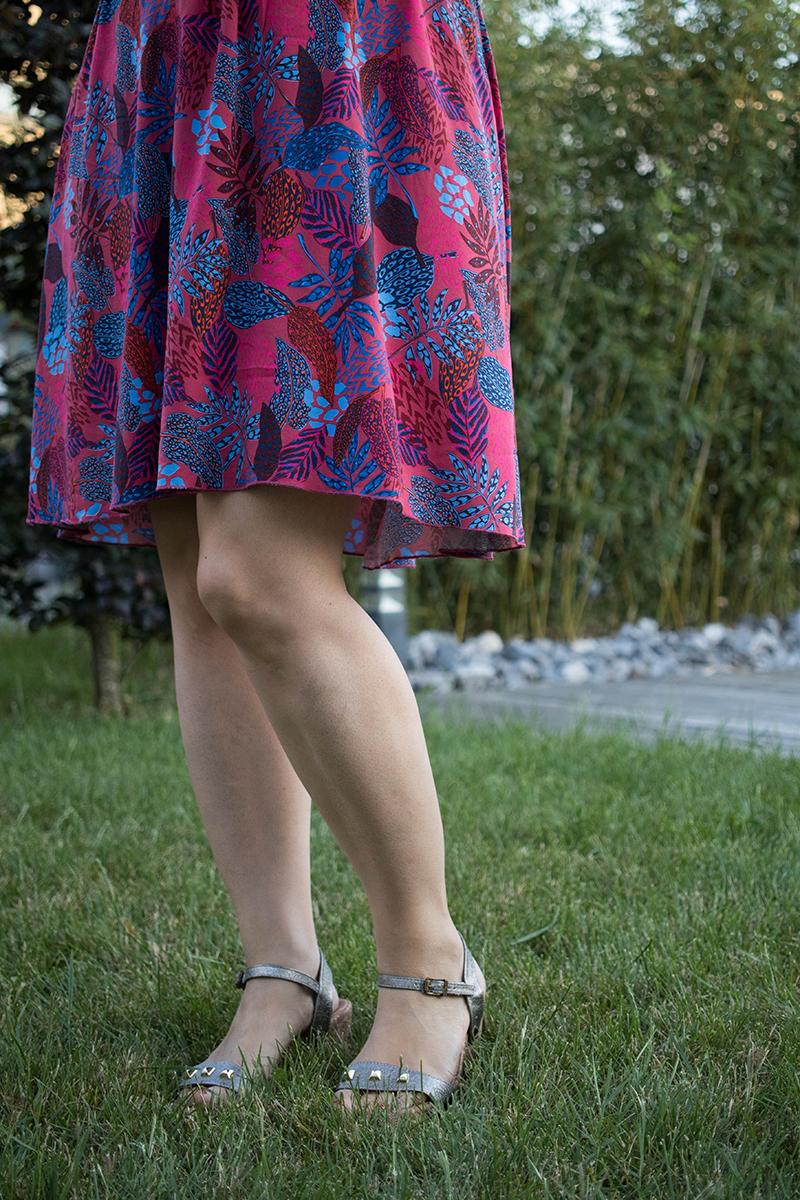 Couture : Ma robe d'été Myosotis x Lucie x Centaurée : détail jupe - Avril sur un fil