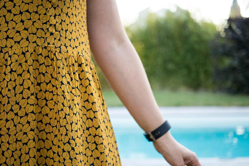 Couture : Ma robe Myosotis x Lucie x Centaurée : détail des fronces- Avril sur un fil