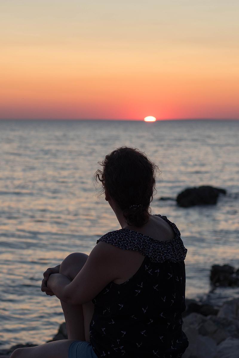 Coucher de soleil en Croatie - Avril sur un fil