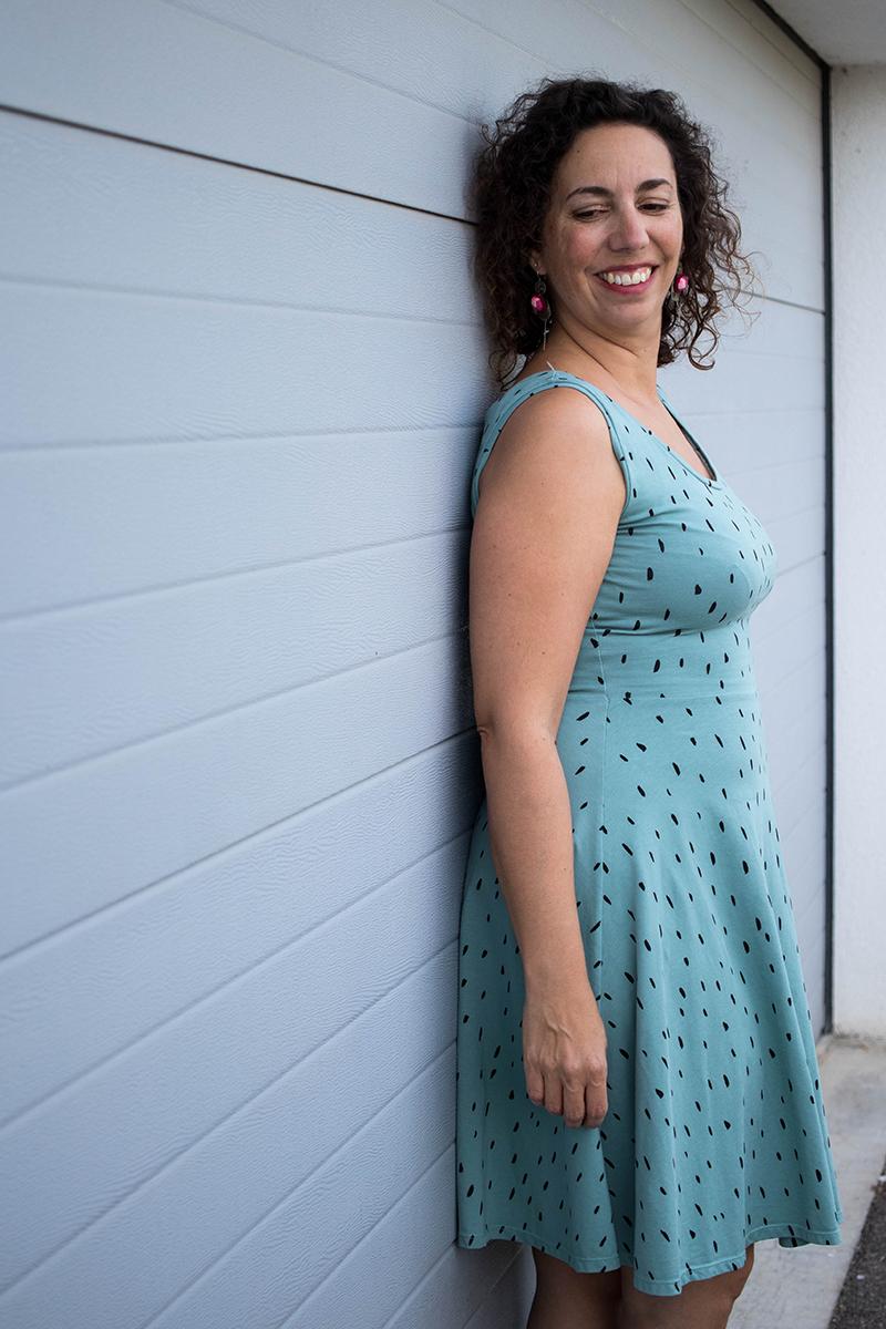 Couture : la robe moneta sans manches - Avril sur un fil
