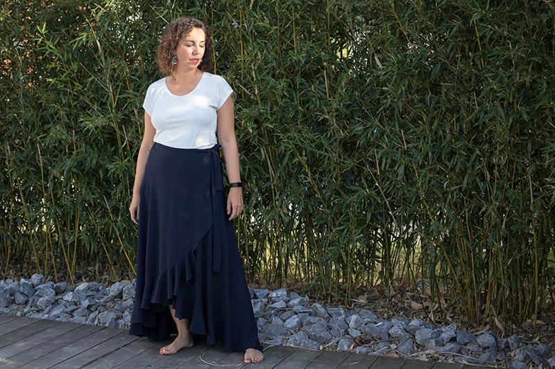 Garde-robe raisonnée cousue main : jupe la boheme et top erell - Avril sur un fil