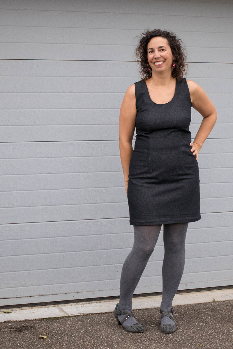Couture : la robe droite cintrée du livre 1001 robes - Avril sur un fil