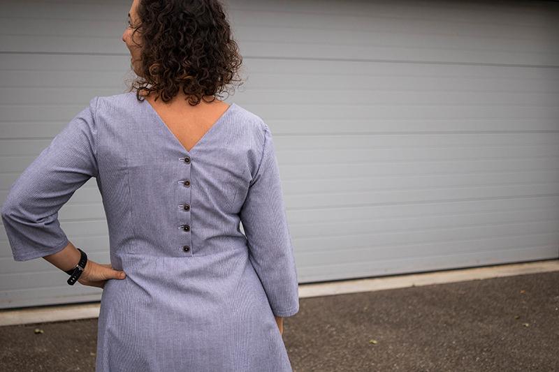 Ma robe cousue main vue de dos - Avril sur un fil