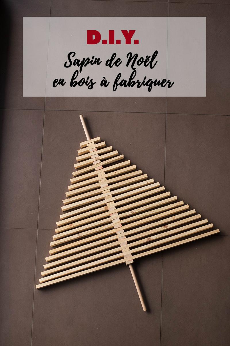 Tuto : Sapin de Noël en bois à fabriquer - Avril sur un fil