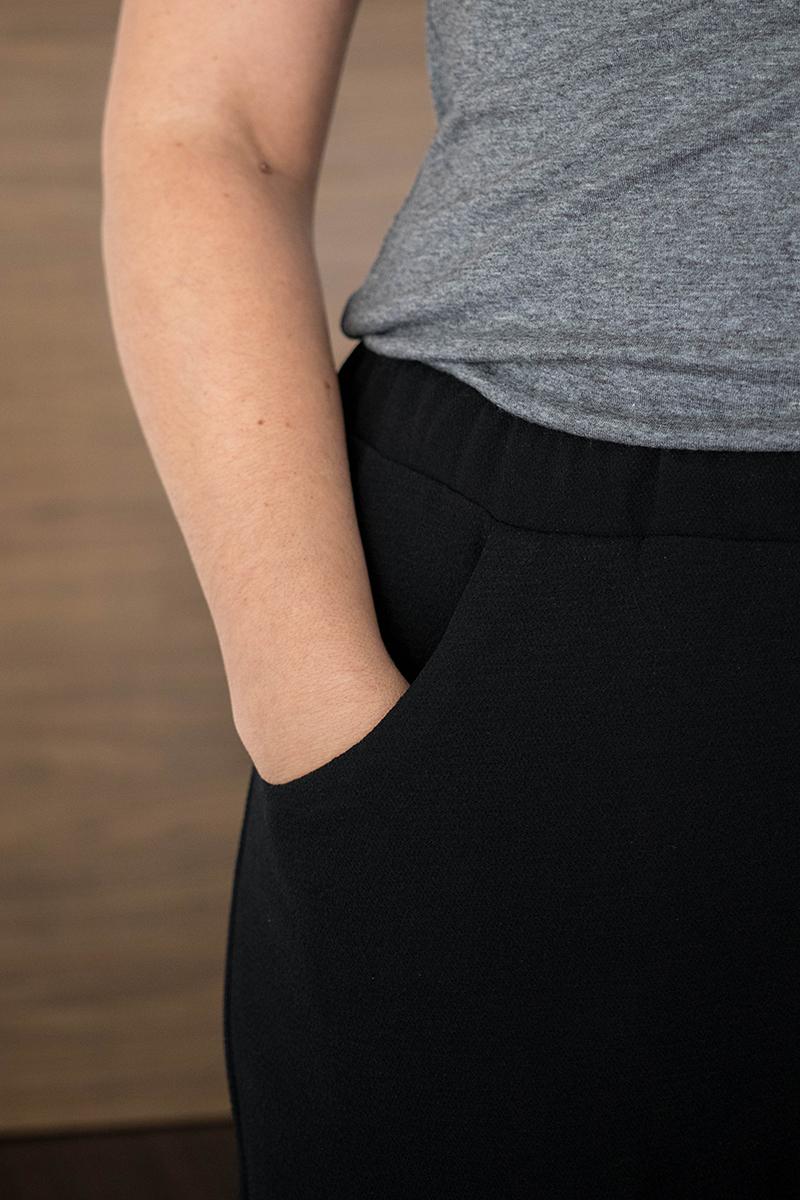 Détail poches et taille élastiquées Dressed - pantalon - Avril sur un fil