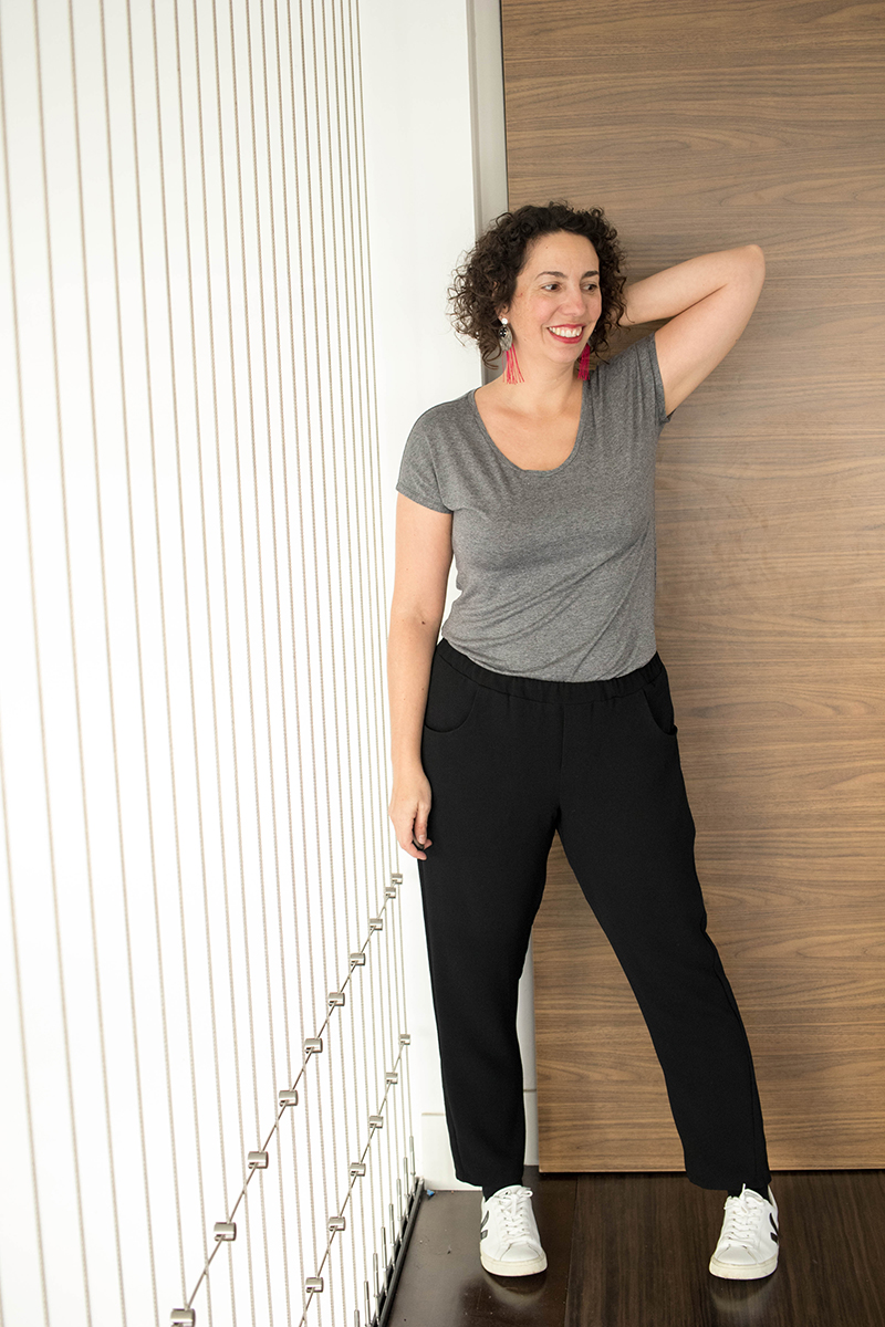 Blog couture : Dressed le pantalon et le tee-shirt issus du livre de Deer and Doe - Avril sur un fil