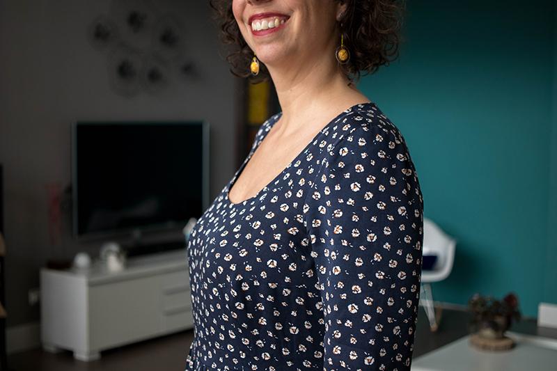 Mon premier FBA - Modèle robe 1001 robes - blog couture Avril sur un fil