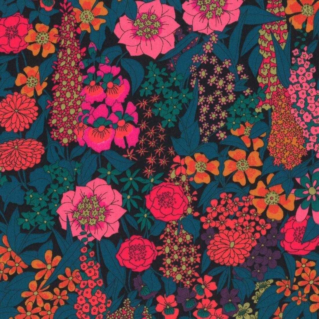 Liberty Ciara bleu et rose - Mondial Tissus