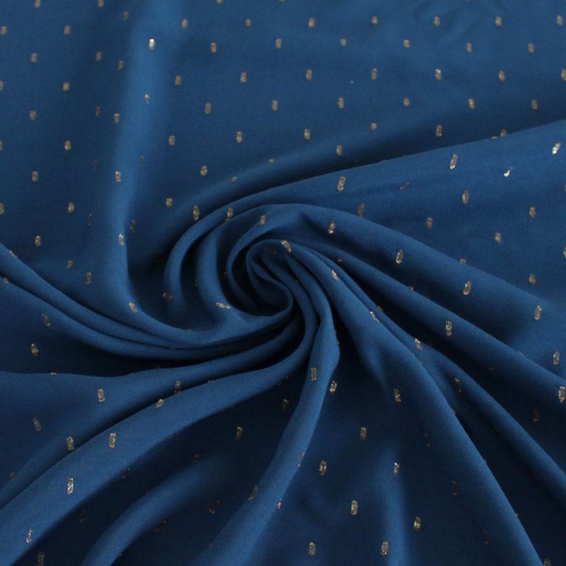 Viscose plumetis bleu - Mouna sew