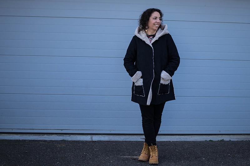 J'ai cousu le manteau Magnésium d'Ivanne S - Avril sur un fil