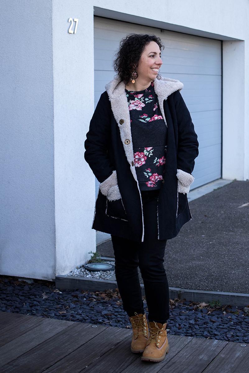 Revue de patron : le manteau magnésium d'Ivanne S - Avril sur un fil