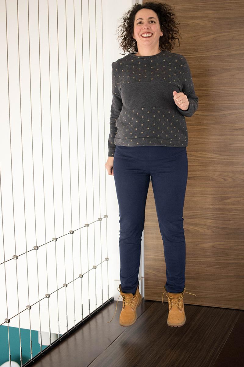 Le pantalon safran et le sweat Andrea pour un look cousu main - Avril sur un fil