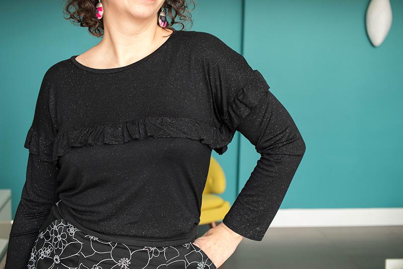 Couture : Hemlock Tee à volants - Avril sur un fil