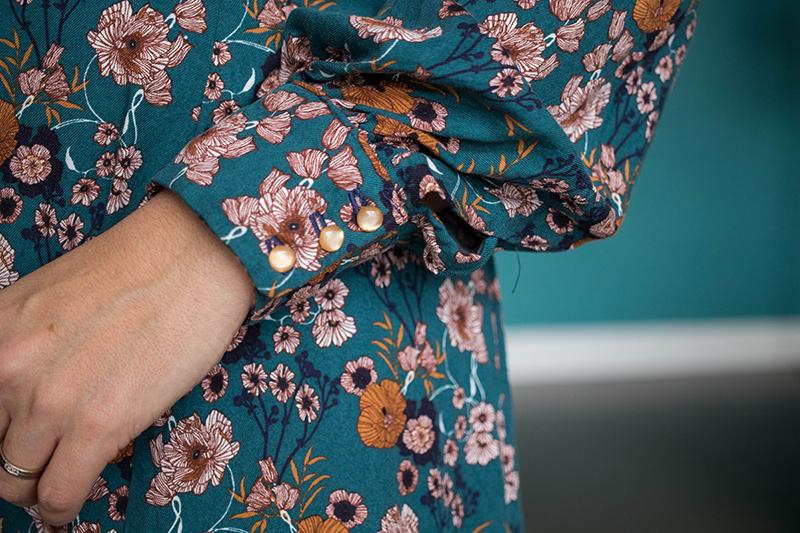 3 boutons pour fermer les manches - blog couture - Avril sur un fil
