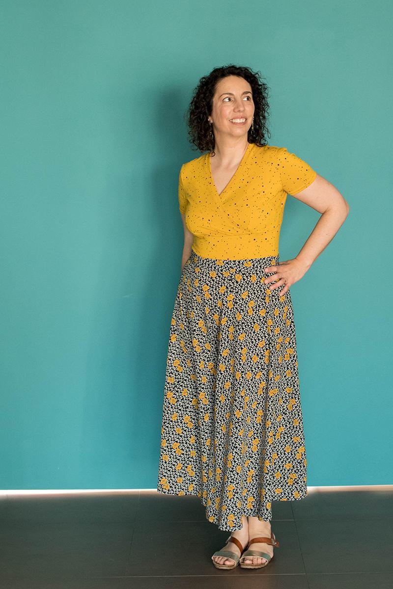 Couture : Body et jupe longue - Avril sur un fil