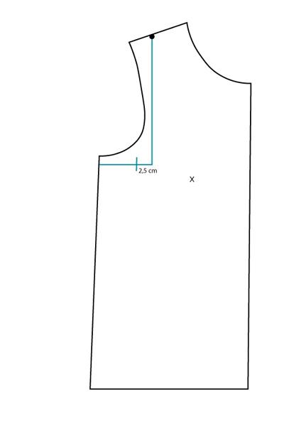 FBA sur patron jersey, méthode 1 : étape 1 - Avril sur un fil