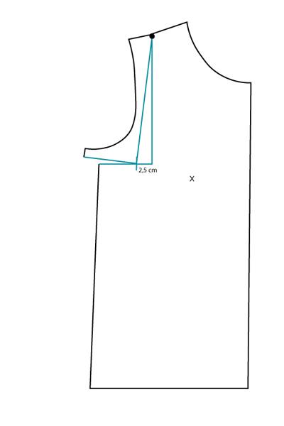 FBA sur patron jersey, méthode 1 : étape 2 - Avril sur un fil